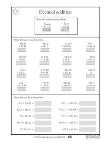 decimal addition worksheet for 4th 6th grade lesson planet. Black Bedroom Furniture Sets. Home Design Ideas