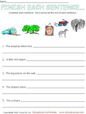 Finish Each Sentences Worksheet