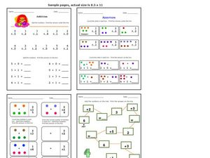 Simple Addition Practice Worksheet