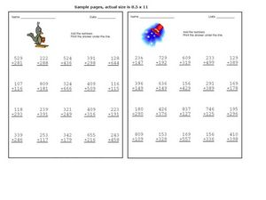 Adding Hundreds 2 Worksheet
