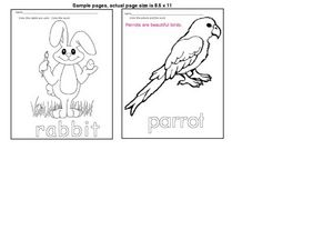 Animal Coloring Sheets Worksheet