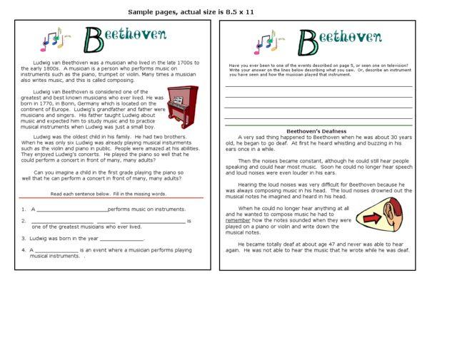 Beethoven 3rd 6th Grade Worksheet – Beethoven Worksheet