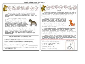Canines and Coyotes Worksheet