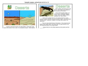 Desert Information Pages Worksheet