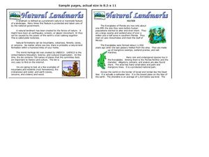 Natural Landmarks Worksheet