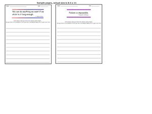 Writing Activity: Responding to Famous Quotes Worksheet