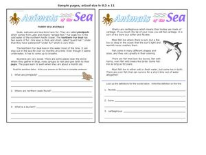 Animals of the Sea Worksheet