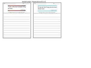 Quotation Writing Prompts 5 Worksheet