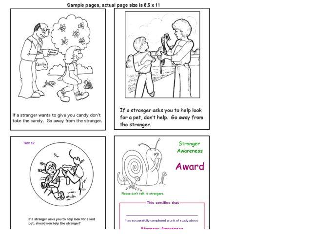 Stranger Danger Worksheet for Kindergarten