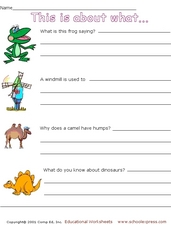 This is About What? Worksheet