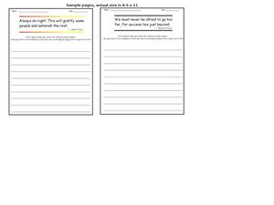Quotation Writing Prompts 6 Worksheet
