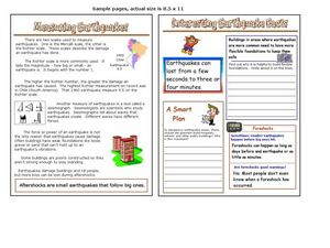 Measuring Earthquakes-Earthquake Facts Worksheet