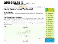 Basic Proportions Worksheet Interactive