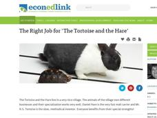 "The Right Job for "" The Tortoise and the Hare"" Lesson Plan"