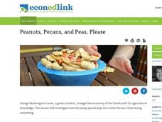 Peanuts, Pecans, and Peas, Please Lesson Plan
