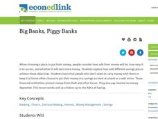 Big Banks, Piggy Banks Lesson Plan