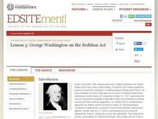 George Washington on the Sedition Act Lesson Plan