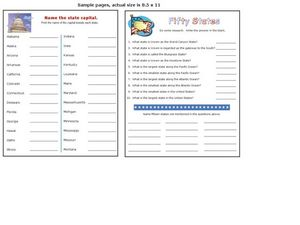 States and Capitols Activity Worksheet