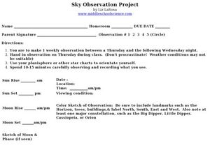 Sky Observation Project Activities & Project