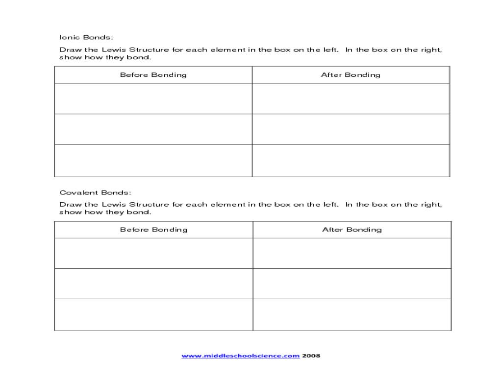 And Covalent Bonding Worksheet - Delibertad
