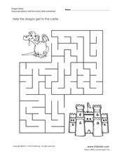 Dragon Maze: Visual Perception and Fine Motor Skills