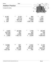 Addition Practice: Adding 4 Numbers #5 Worksheet