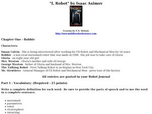 I, Robot: Chapter One Lesson Plan