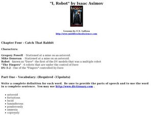 I, Robot: Chapter Four- Catch That Rabbit Lesson Plan