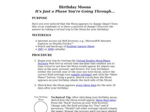 Birthday Moons Lesson Plan