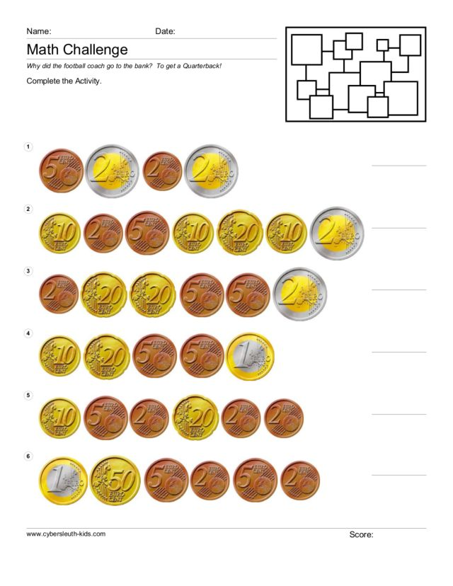 counting euros 2 worksheet for 1st 3rd grade lesson planet. Black Bedroom Furniture Sets. Home Design Ideas