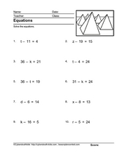 Equations px = q, Version 25 Worksheet