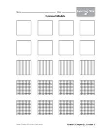 Decimal Models Worksheet