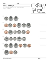 Money Math Challenge #2 Worksheet
