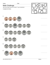 Money Math Challenge #4 Worksheet