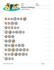 Money Challenge: English Coins Worksheet