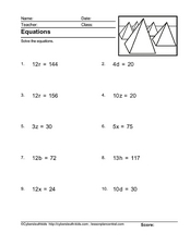 Equations px = q Version 15 Worksheet