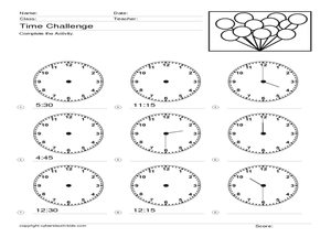 Time Challenge: Mixed Times 4 Worksheet