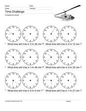 Time Challenge: Time Differentials 7 Worksheet