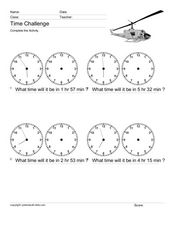 Time Challenge: Time Differentials 9 Worksheet