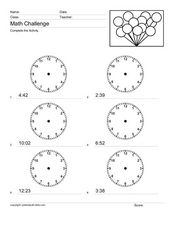 Time Challenge 4 Worksheet