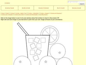 Circles and Squares in Lemonade Worksheet