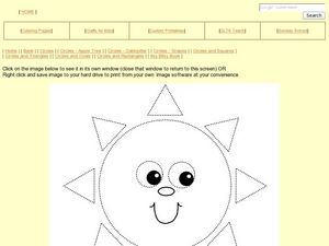 Circles and Triangles: Sun Worksheet