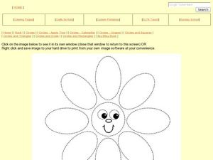 Circles and Ovals: Flower Worksheet