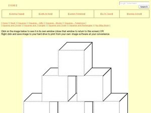 Shapes and Colors- Square Pyramid Worksheet