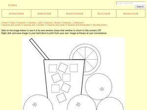 Circles and Squares: Lemonade Picture Worksheet