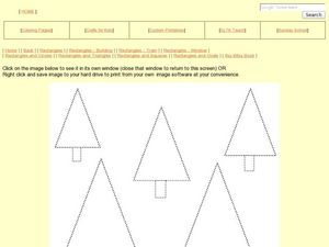 Shapes and Colors: Triangles and Rectangles Worksheet