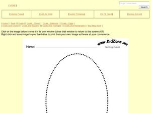 Learning Shapes: Ovals Worksheet