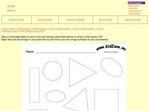 Shapes and Colors: Squares, Triangles, Circles, Rectangles and Ovals Worksheet