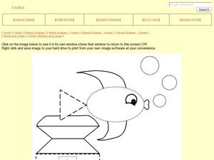 Shape and Colors: Rectangles, Squares, Triangles, Ovals and Circles Worksheet