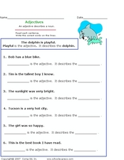 Adjectives and What They Describe Worksheet